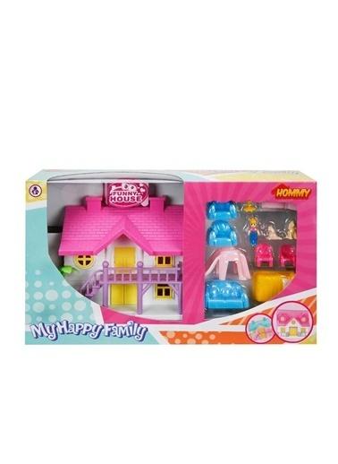 Sunman Sunman 02081 My Happy Family Mobilyalı 2 Katlı Villa Oyun Seti Renkli